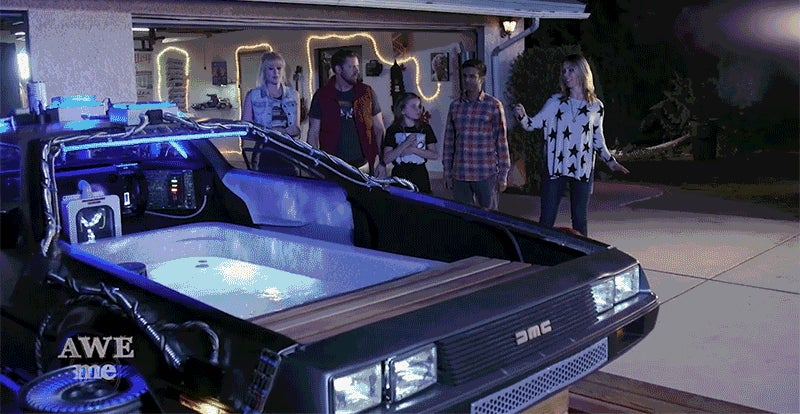 Everyone Knows the Best Hot Tub Time Machines are Built From DeLoreans