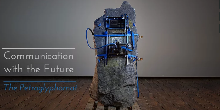 A CNC Mill Backpack Drills Permanent Messages Into Solid Rock