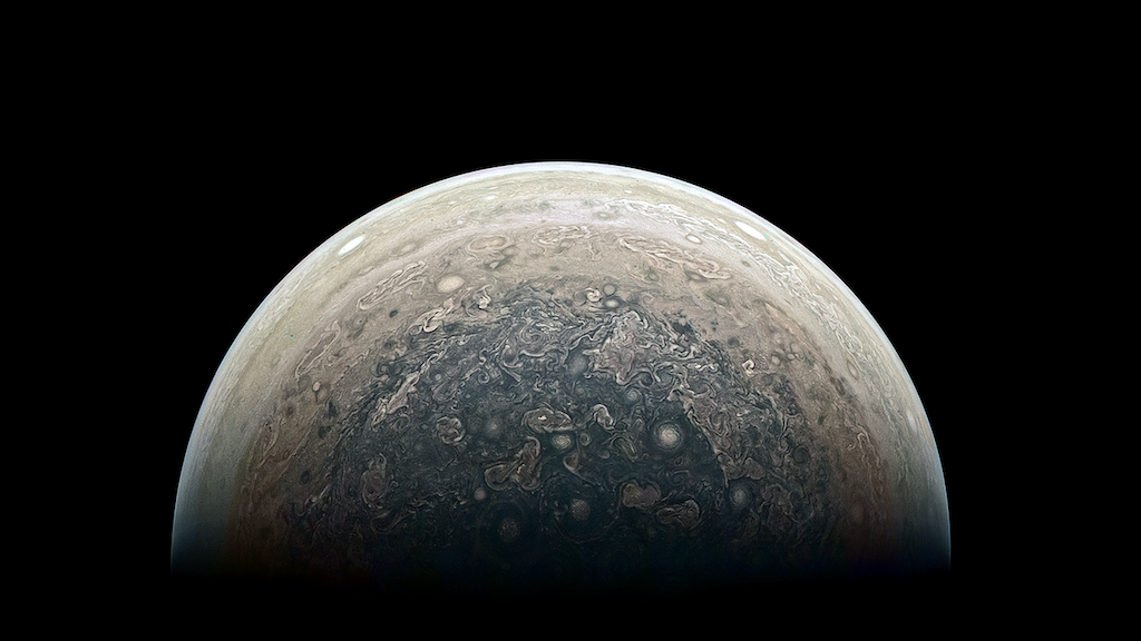 New Close-Up Image Of Jupiter's South Pole Is Mind-Blowingly Beautiful