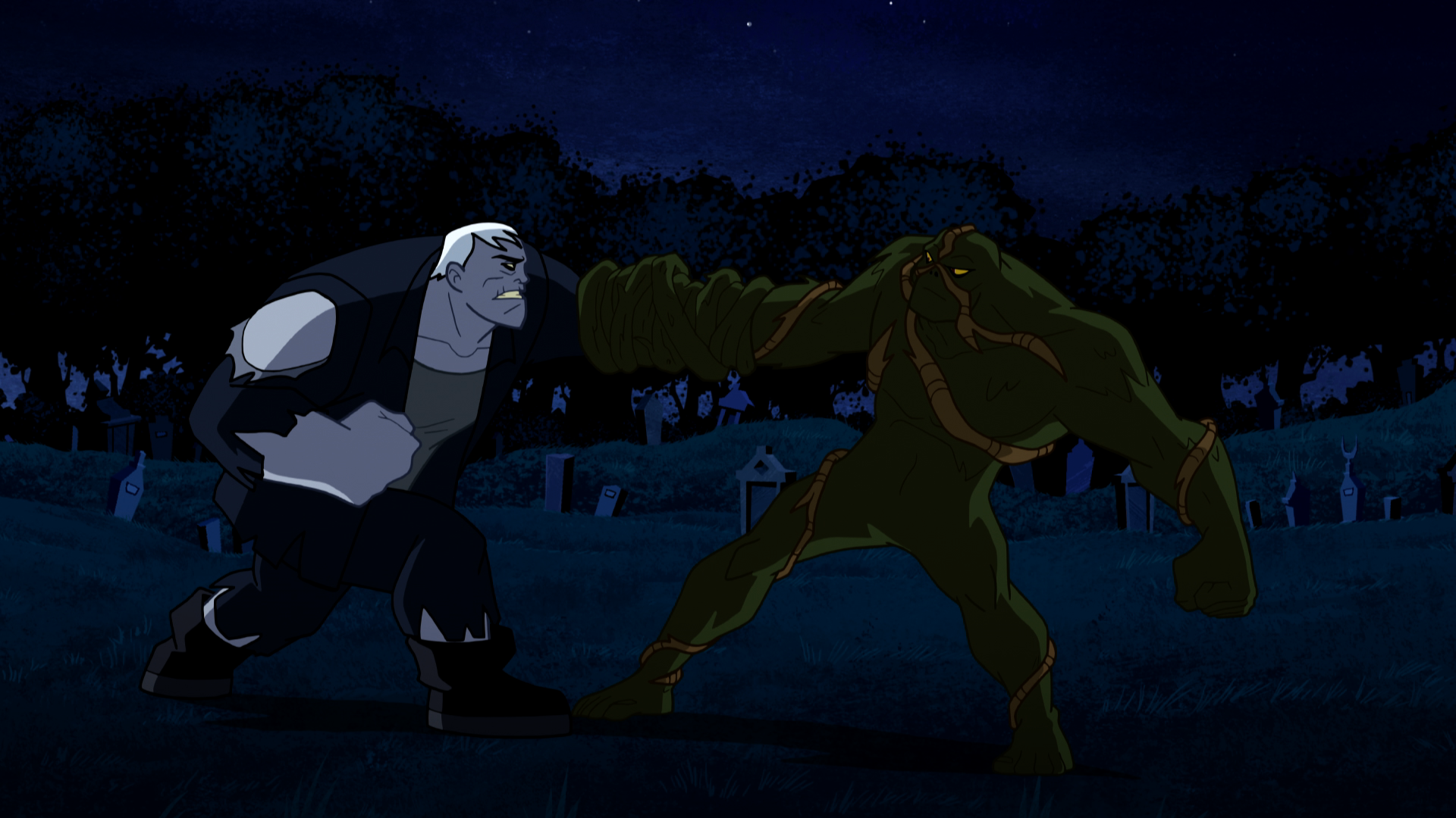 The Latest Justice League Action Will Feature A Swamp Thing/Solomon Grundy Smackdown