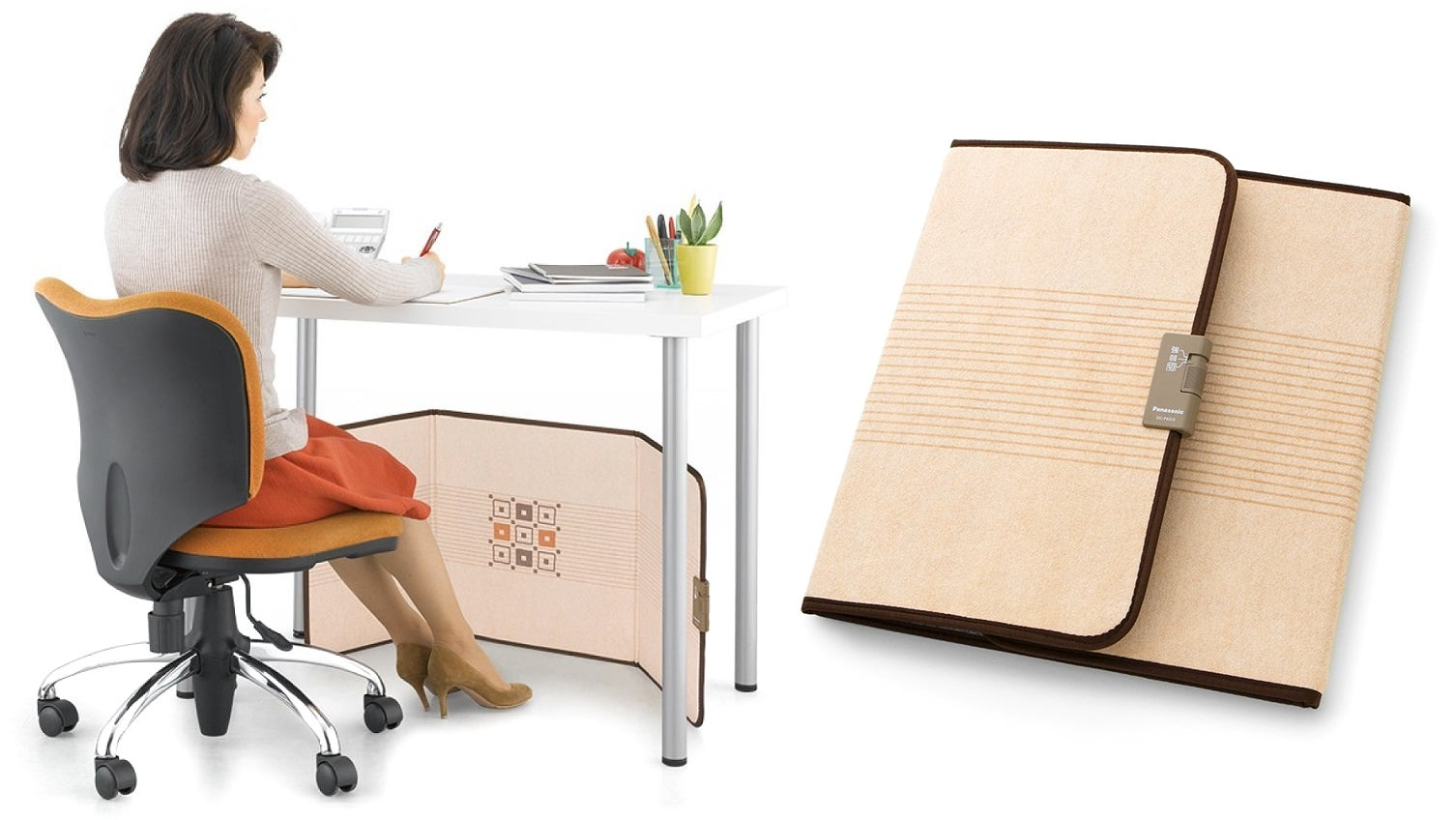 You Can Stash This Folding Under-Desk Heater In A Filing Cabinet Until You Get Cold