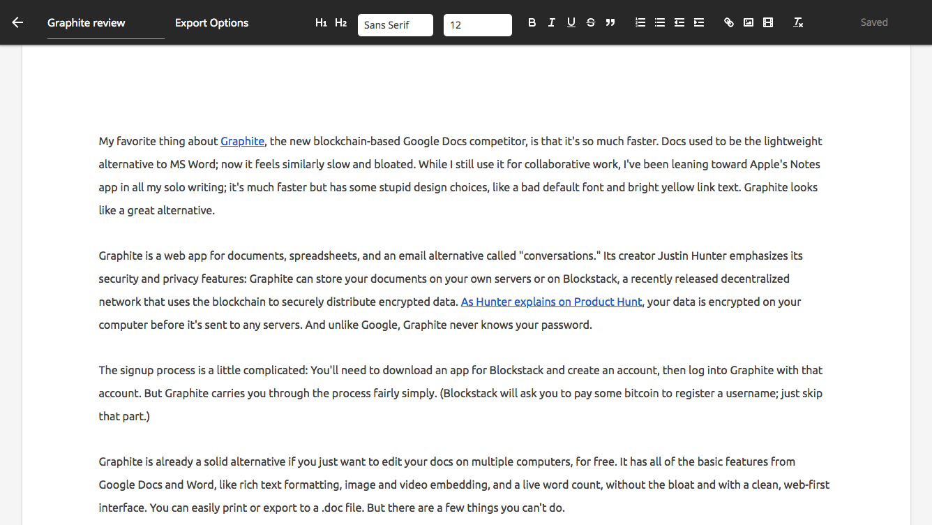 Check Out This Google Docs Competitor
