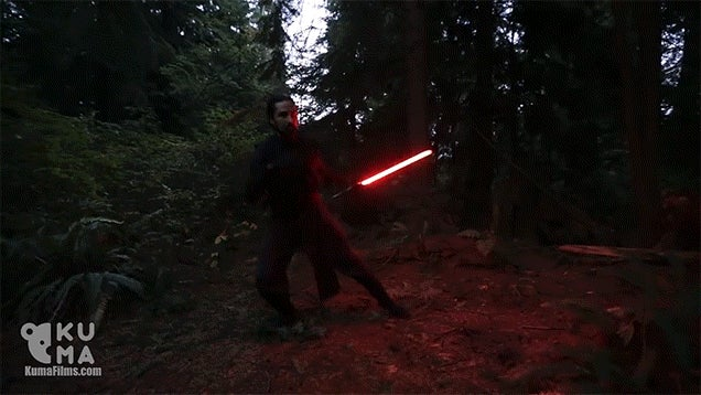 These Guys Swing Lightsabers Around Like They're Using The Force
