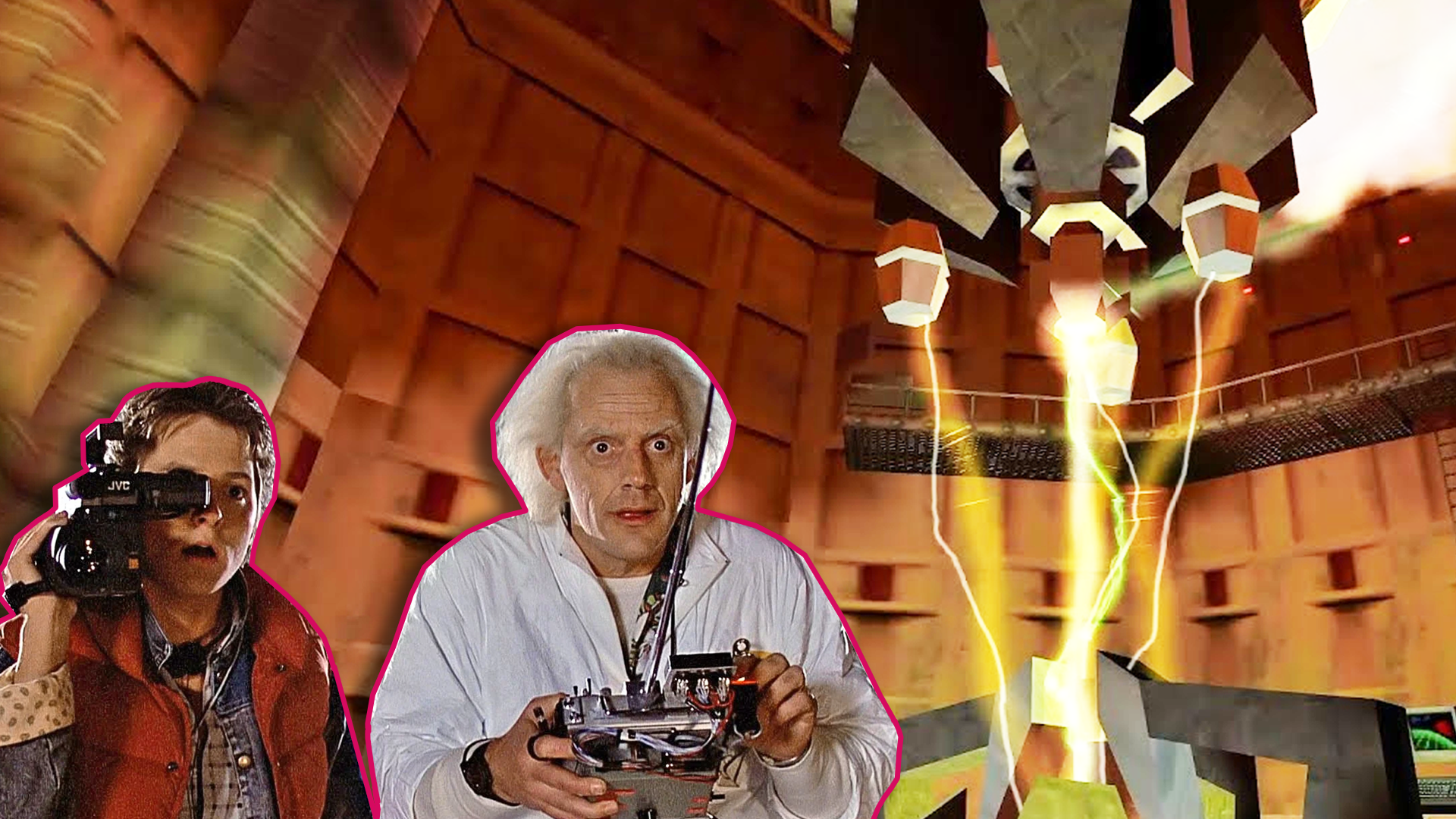 Back To The Future With Only Half-Life Sound Effects Is Wonderful