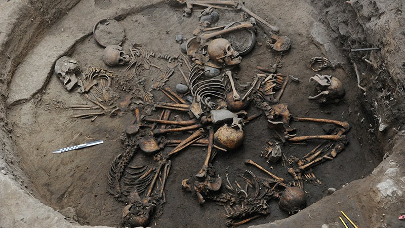 AncientGrave WithSkeletons Arrangedin Bizarre Spiral Formation Discovered In Mexico