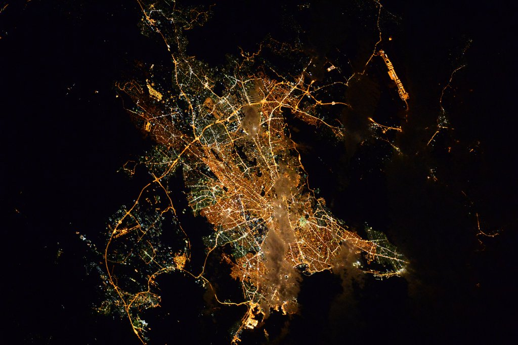 Athens Shines From Orbit
