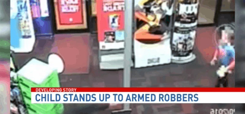 7 Year-Old Kid Punches Armed GameStop Robber