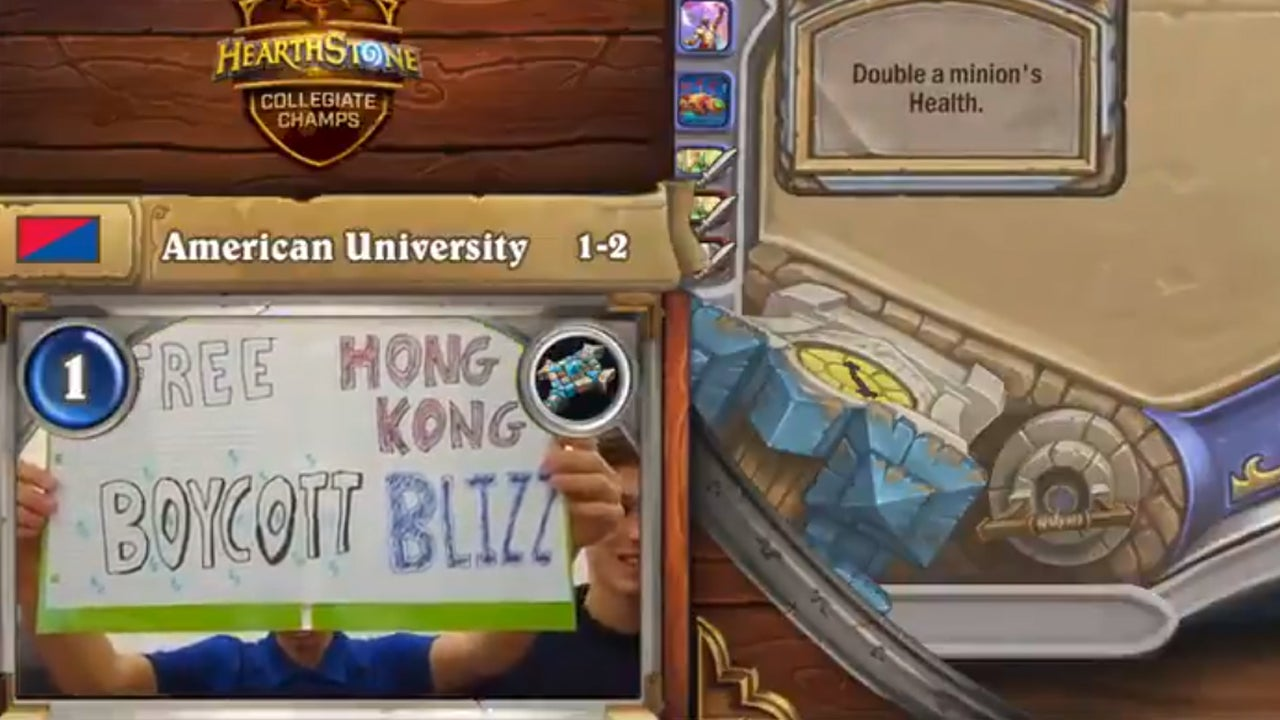 College Hearthstone Players Who Held Up 'Free Hong Kong' Sign Drop Out Of Tournament