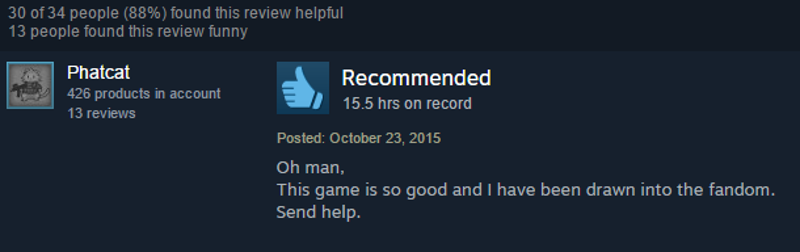 Undertale, As Told By Steam Reviews