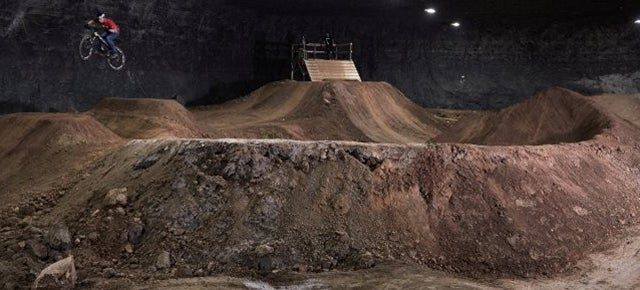 This Huge BMX Park Is Hidden 100 Feet Underground In an Abandoned Mine