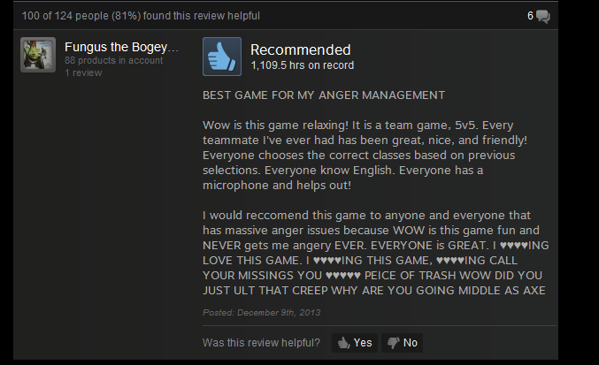 Dota 2, As Told By Steam Reviews