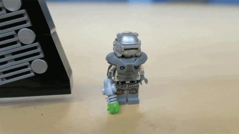 Fallout 4's Mini Nuke Launcher, In LEGO Form