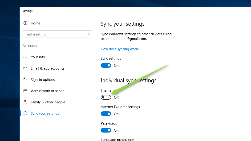 How To Stop Windows 10 From Syncing Themes Between Computers