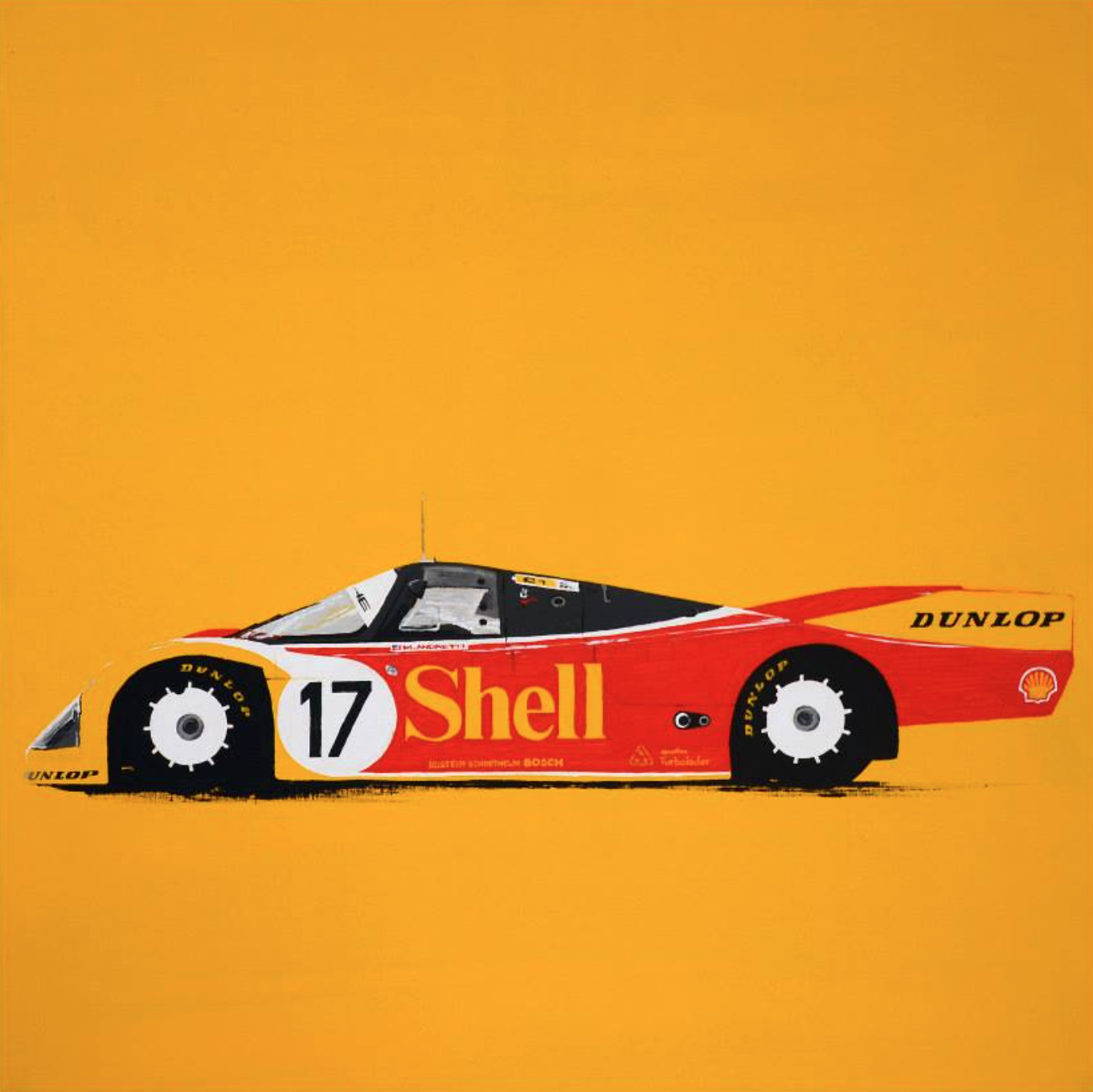 The most iconic race cars in history captured in beautiful paintings