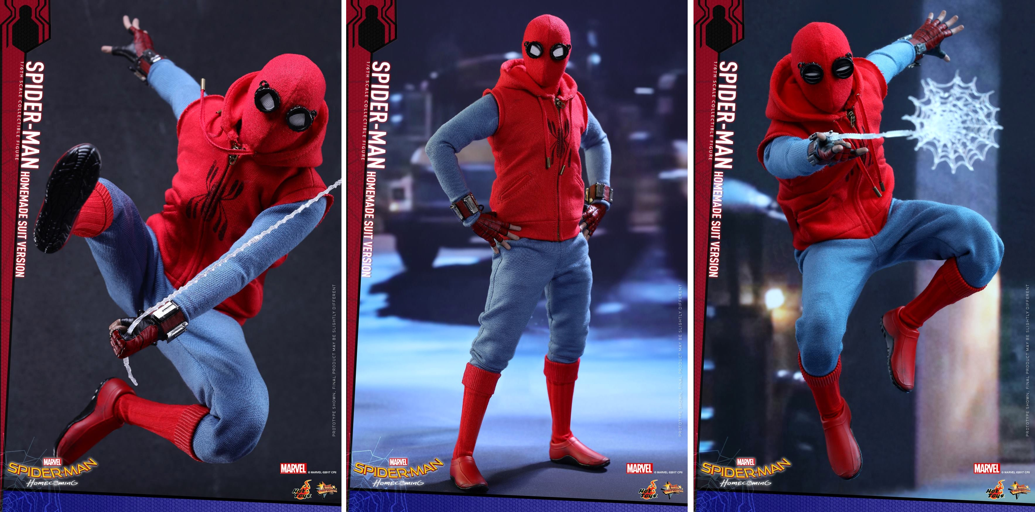 Hot Toys Spectacular Homemade Spider Man Homecoming Figure And