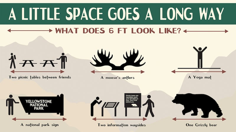 These Social Distancing Posters Are The Best Thing The Trump Administration Has Done For Parks