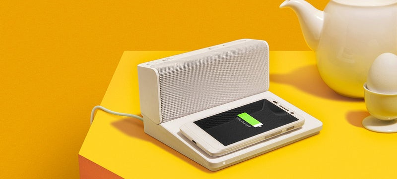 Quirky's Ohm Bluetooth Speaker Charges Wirelessly So It's Always Ready