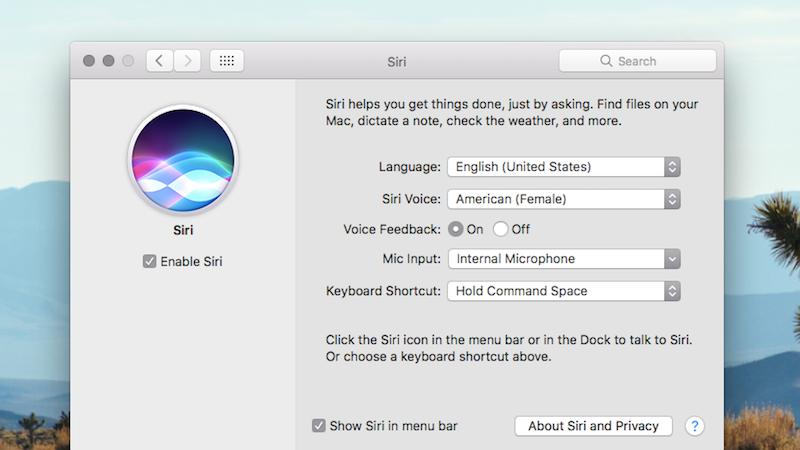 Bring Up Siri On MacOS Sierra With A Keyboard Shortcut