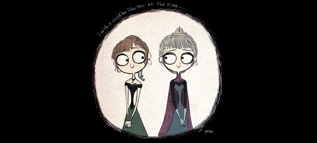 What Frozen would have looked like if Tim Burton made it