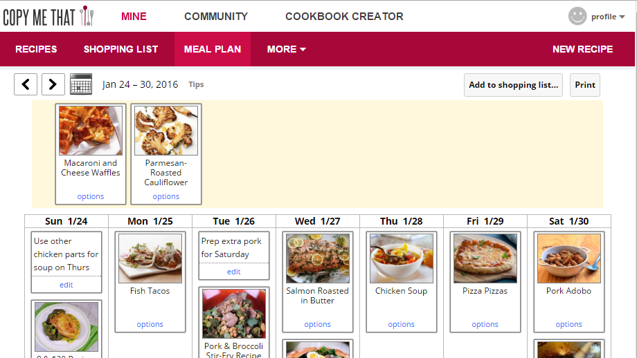 Copy Me That Is A Free, Excellent Meal Planner That Works On Every Device