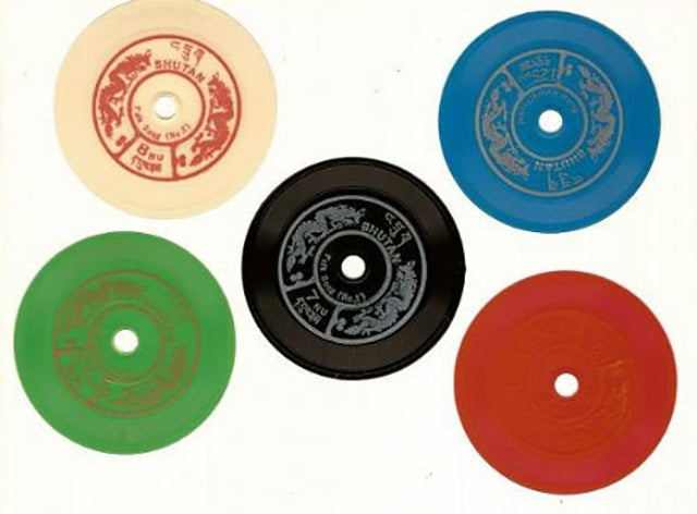 These Bhutanese Postal Stamps Play Like Real Vinyl Records