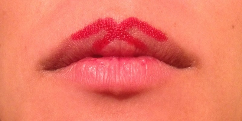 Start With An 'X' With Your Lipstick For That Perfect Lip Shape