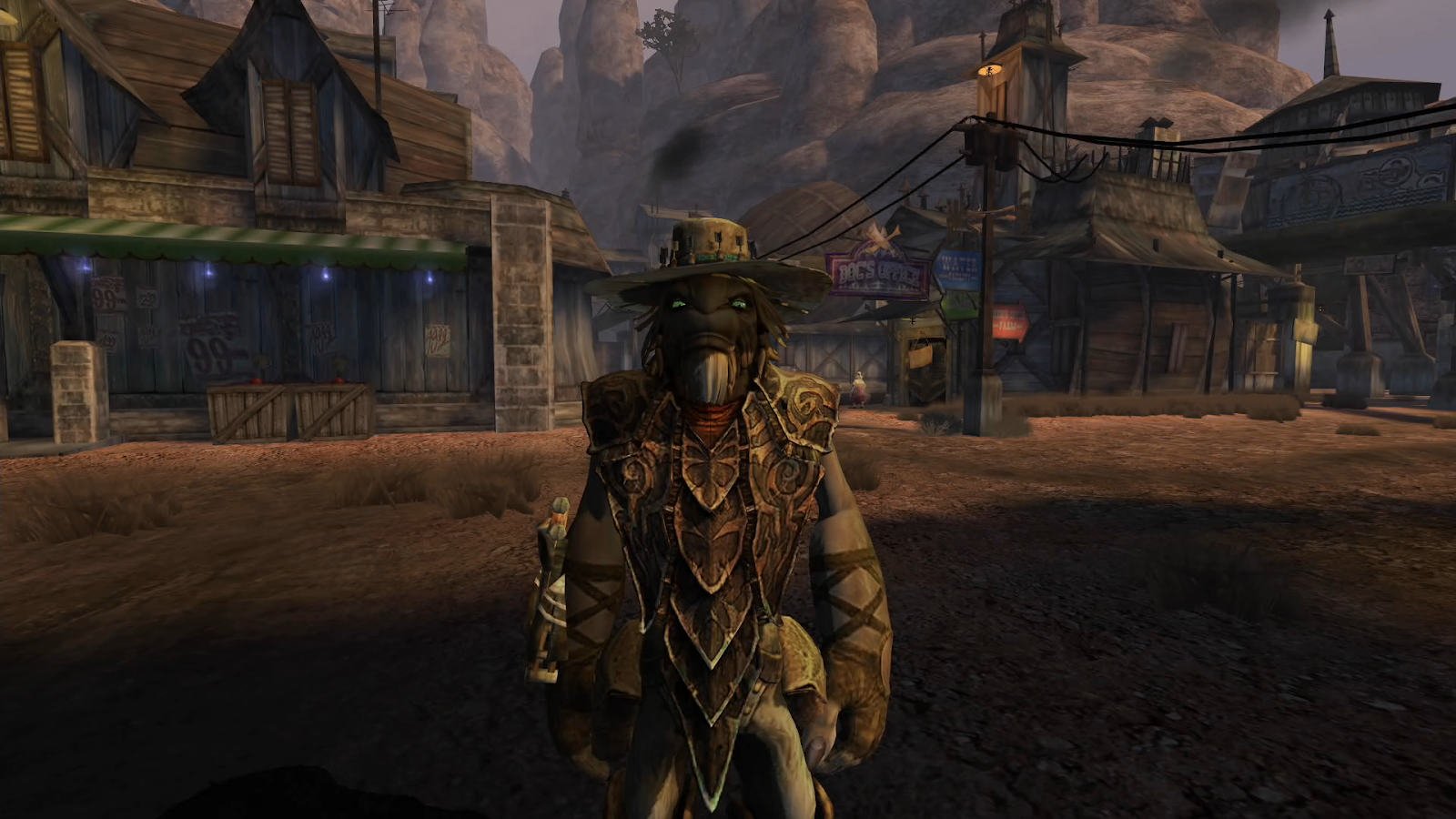 A Grizzled Cat Shoots Living Critters At Outlaws In Oddworld: Stranger's Wrath