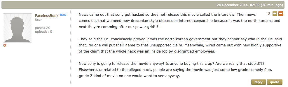 Meet the Sony Hack Truthers