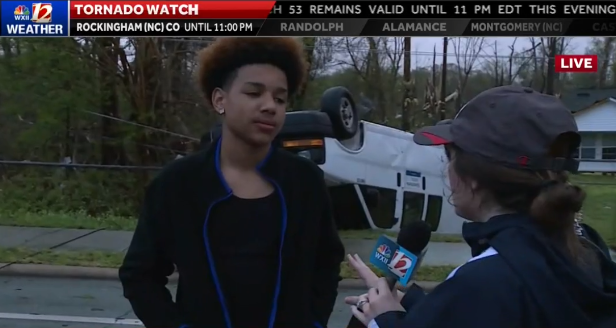 As Tornado Closes In, North Carolina Teen Just Keeps Playing Fortnite