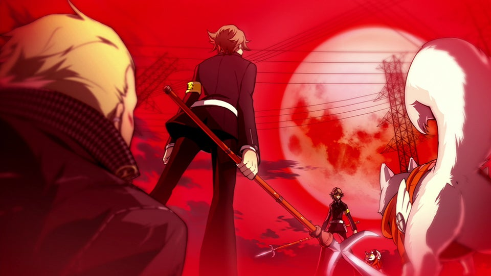 Let's look at Persona 4 Ultimax as a Visual Novel, Not a Fighting Game