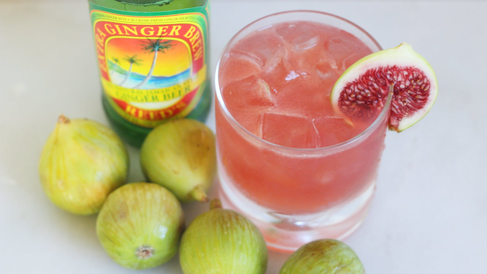 Ease Into Autumn With This Fig And Ginger Spritz