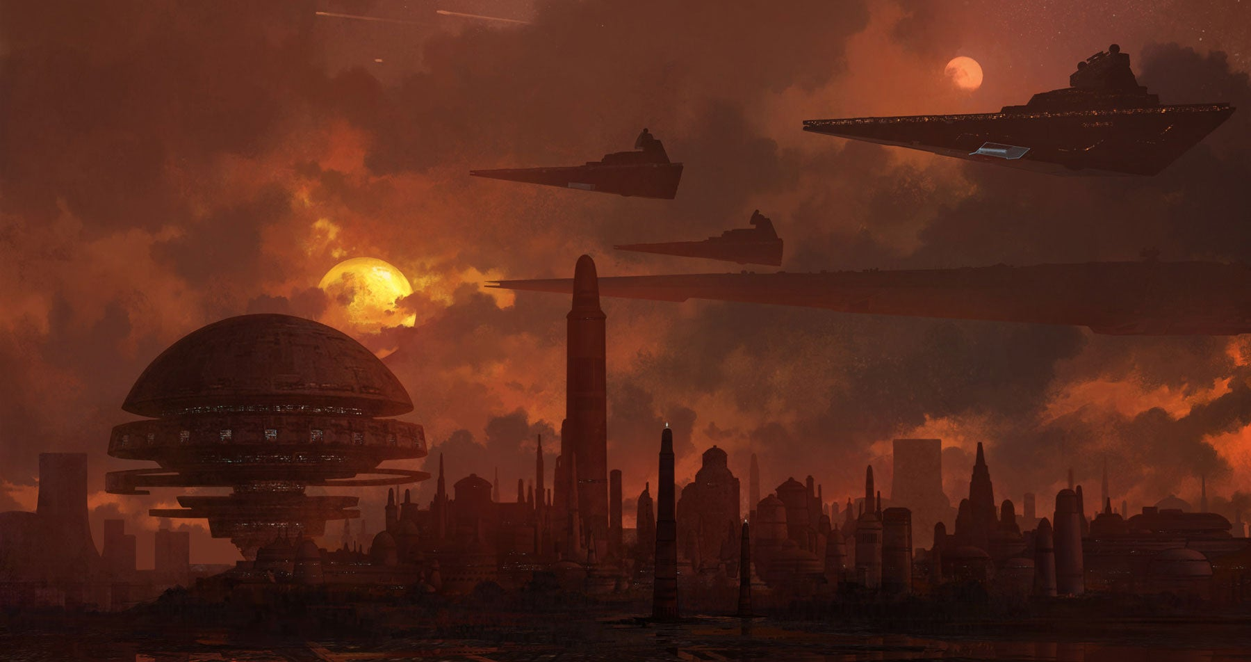 Star Destroyers At Sunset
