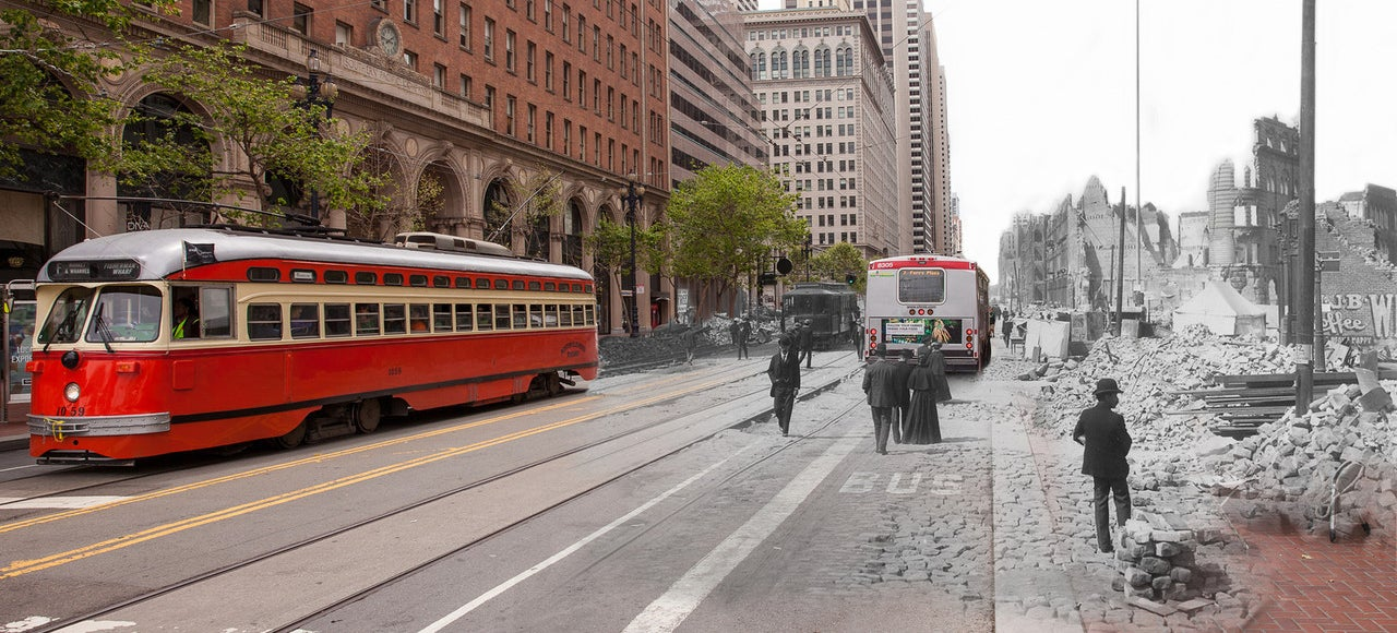 These Time-Warp Photos Show Six Cities In the Past and Present