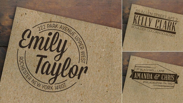 Let This Crack Designer Turn Your Address Into a Logo and Stamp