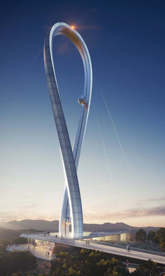 Insane tower design launches people on an awesome roller coaster loop