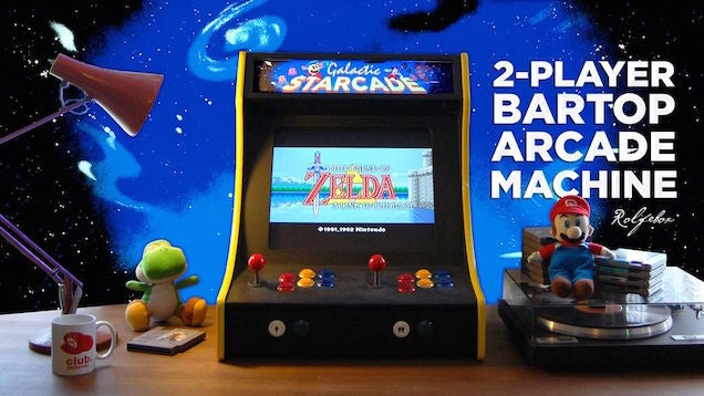 Build Your Own Two-Player Bartop Arcade Machine