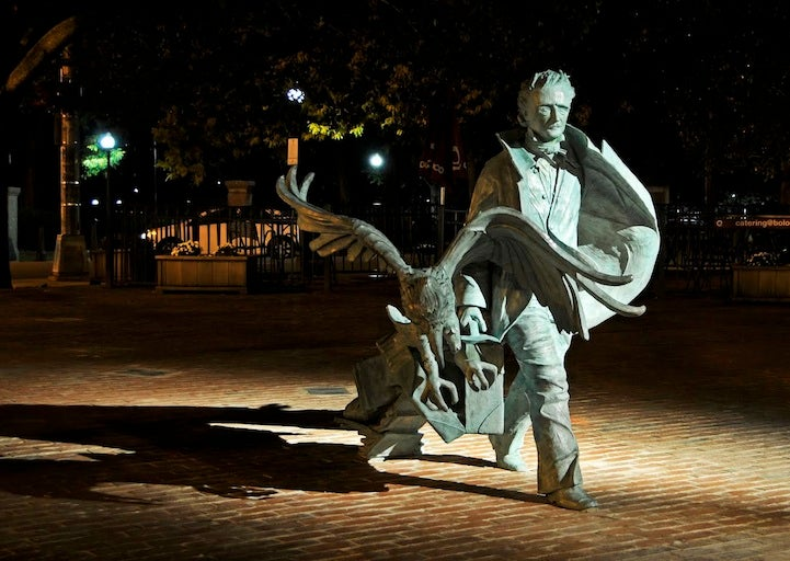 Boston Just Got a Spooky Edgar Allan Poe Statue