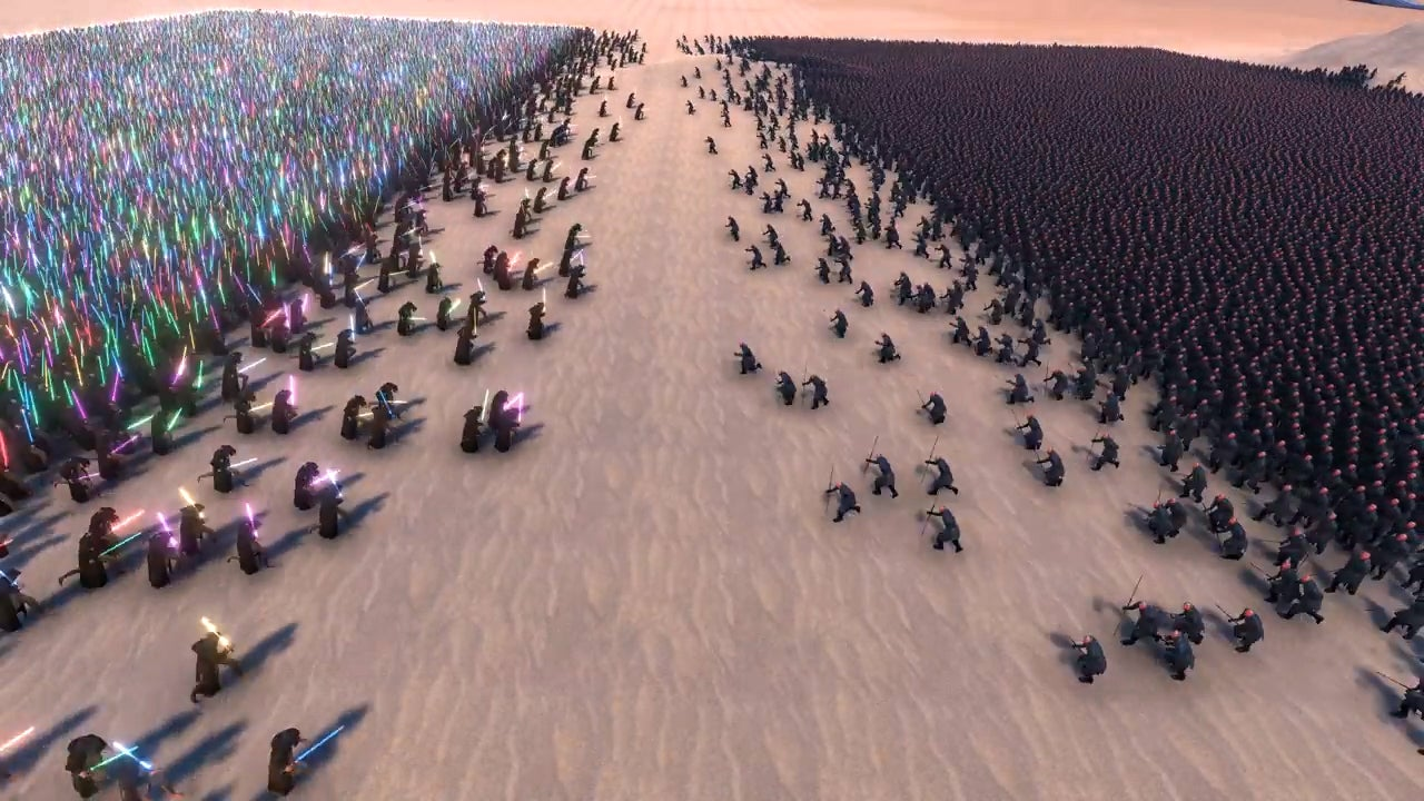 Watch 20,000 Jedi Battle 20,000 Sith To Finally Decide Who Rules The Galaxy