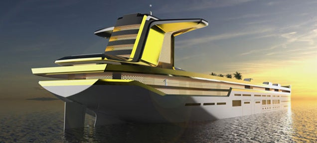 This crazy giant giga-yacht is the size of an oil tanker