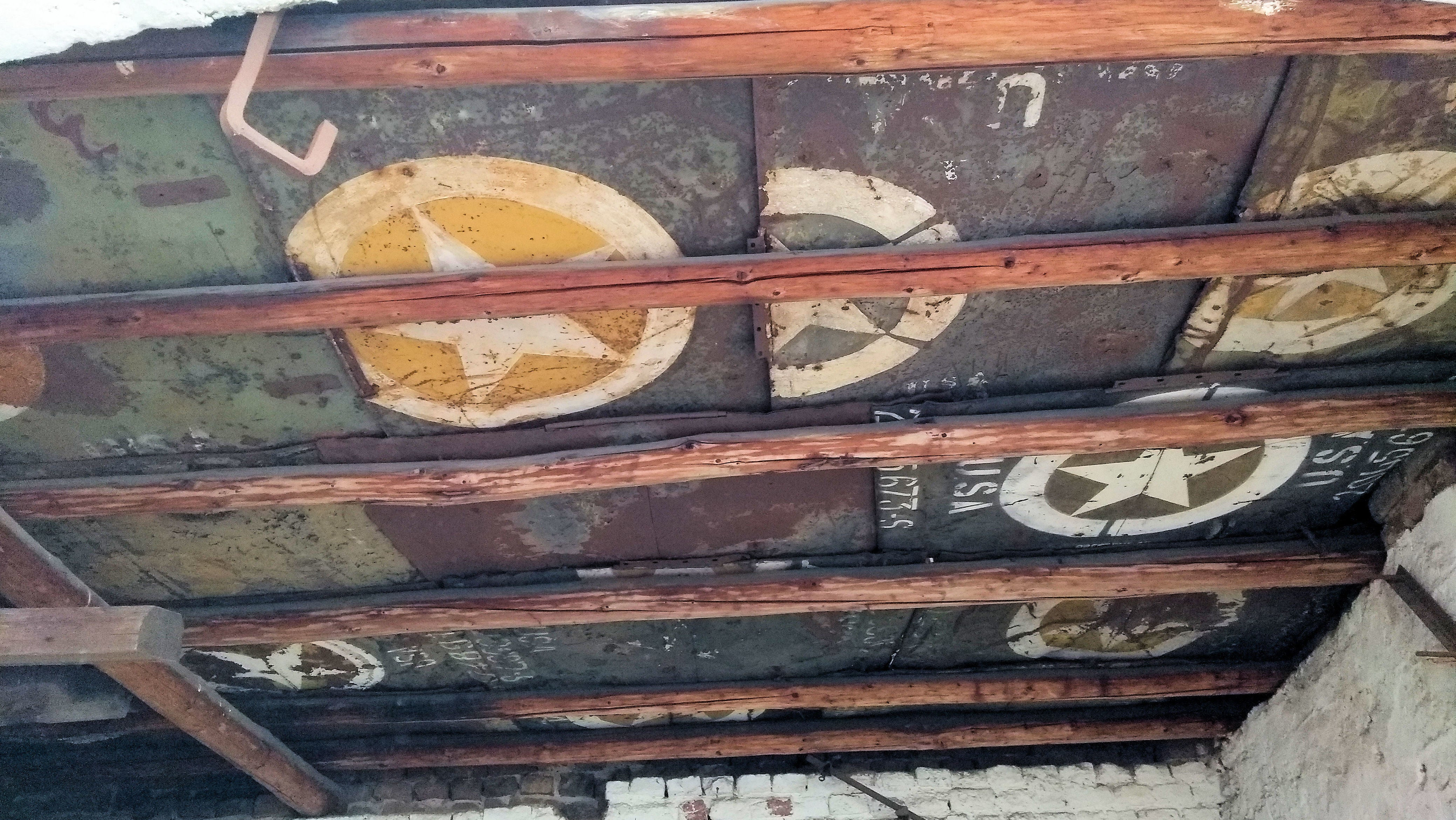 Germans Discover Military Jeep Hoods Used To Repair A Ceiling After World War II