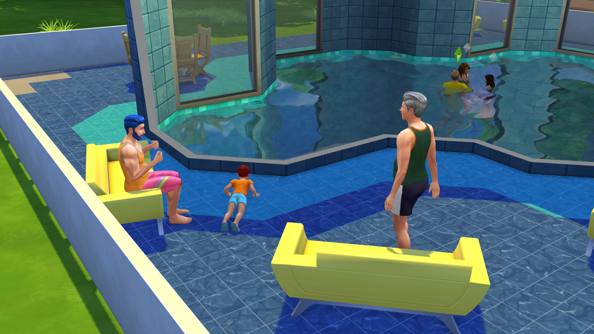 It only took me an hour to drown my sims in their new pool for Pool design sims 4