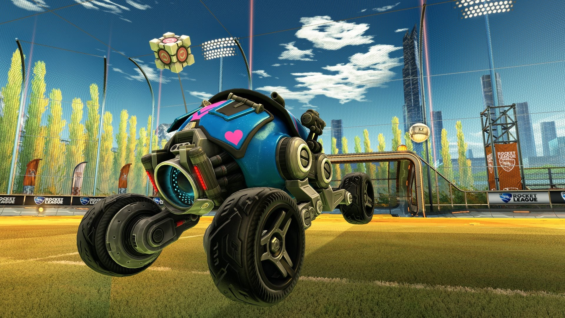 Free Portal-themed Goodness Comes To Rocket League PC On Tuesday.