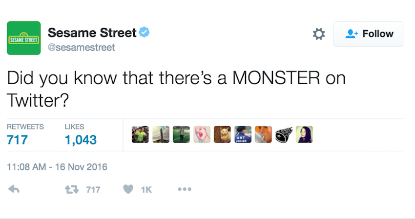 Sesame Street Wants To Spread The Word About Monsters On Twitter