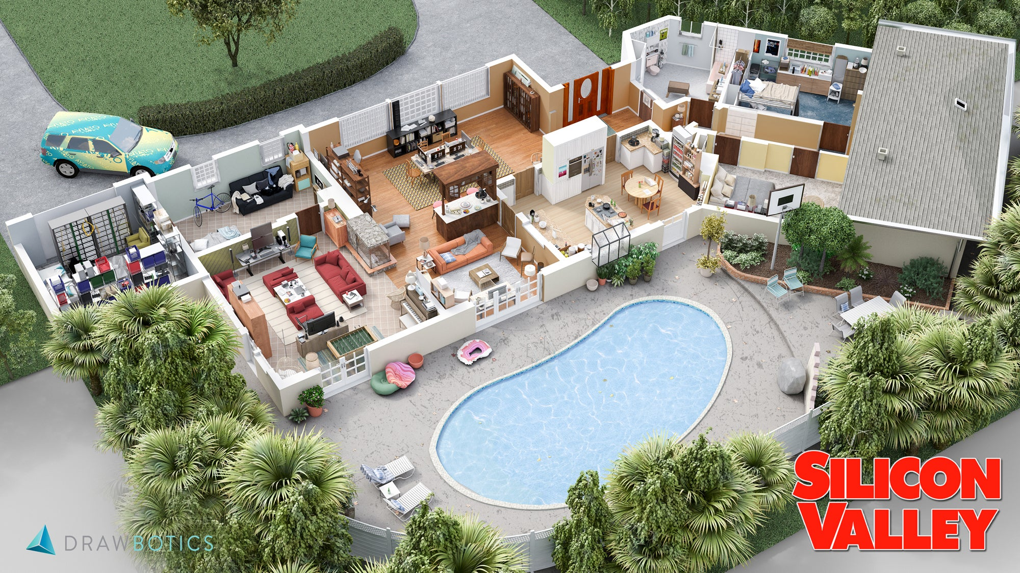 Detailed 3D Floor Plans Reveal Everything You Missed While Binge-Watching Your Favourite Shows