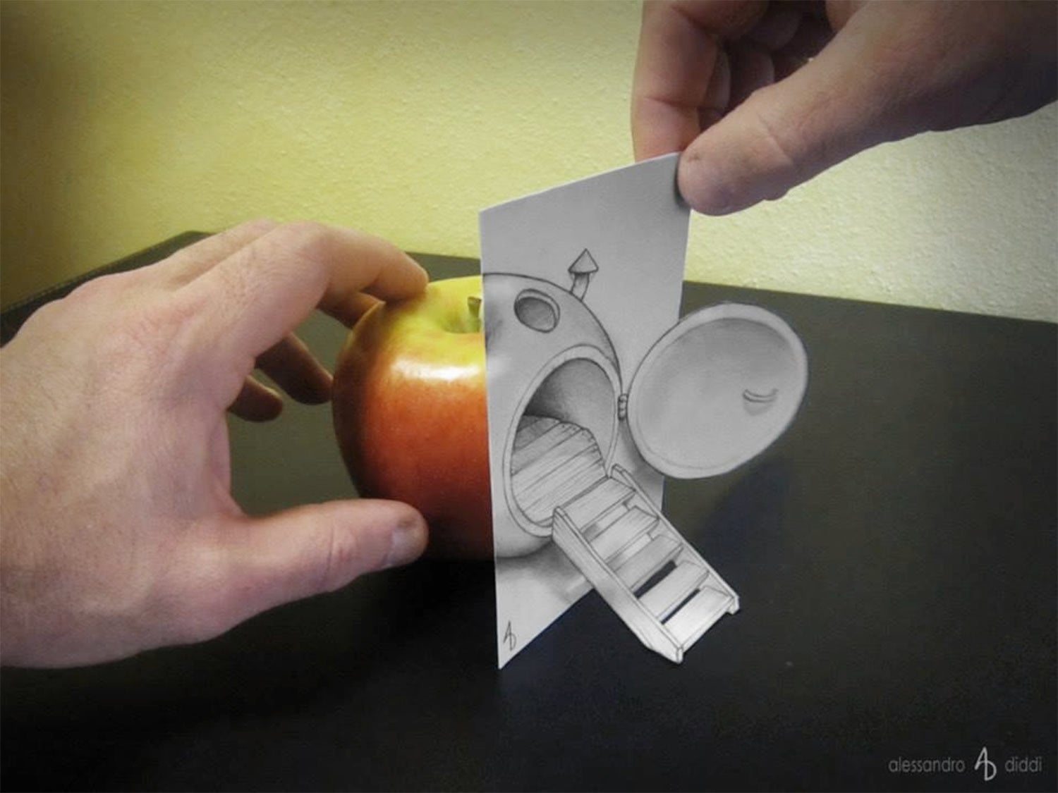 These cool anamorphic drawings will play with your brain