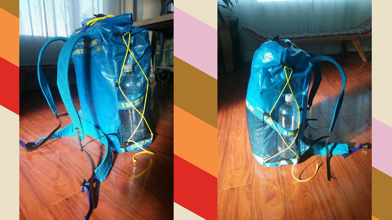 Build An Ultralight Backpack From IKEA Plastic Tote Bags