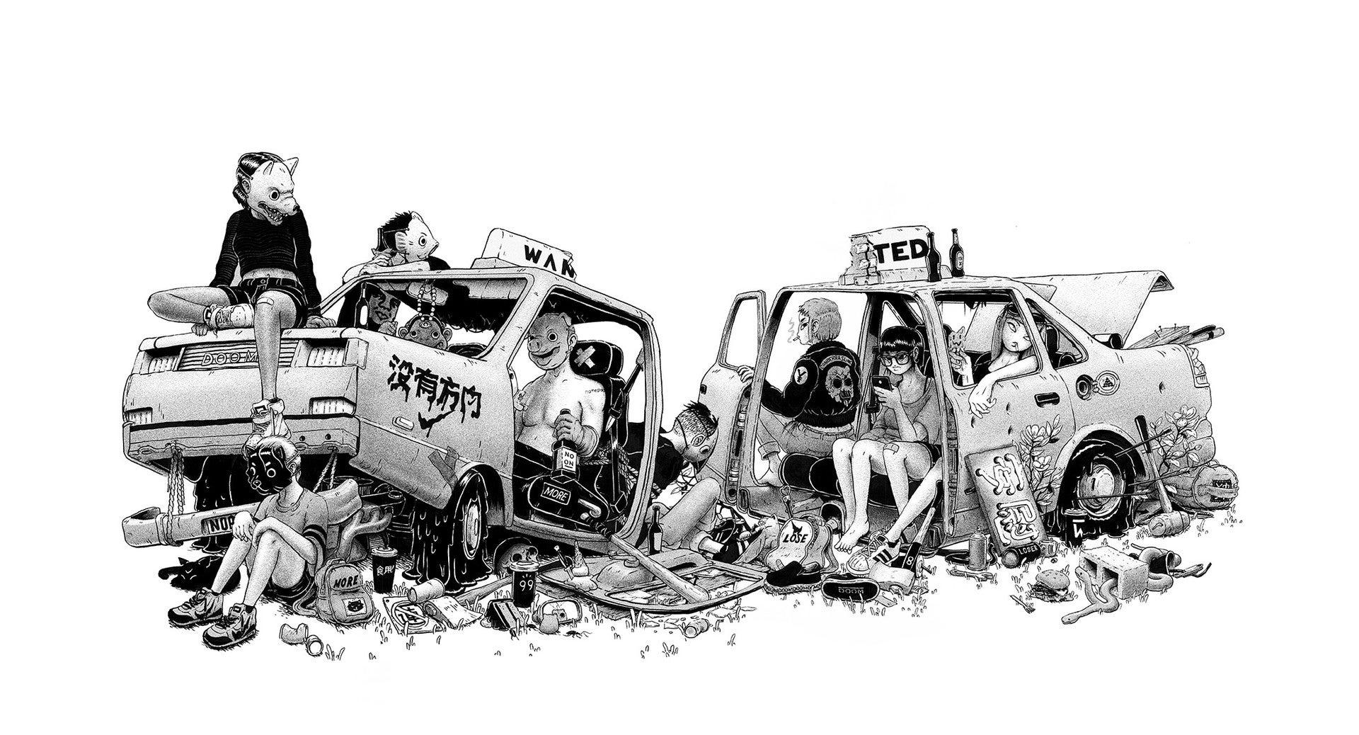 Fine Art: Taxi Gang