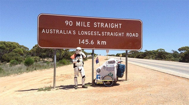 Stormtrooper Walking Across Australia (Not Yet Killed By Spiders)