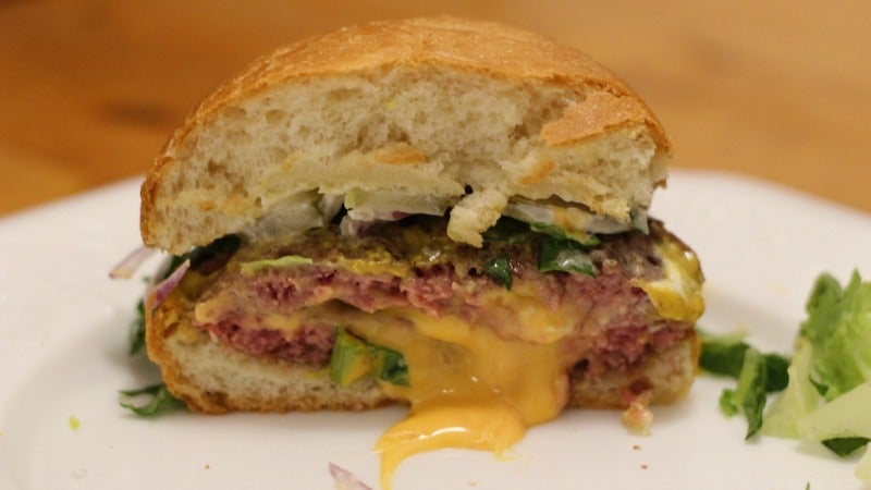 Will It Sous Vide? Juicy, Cheese-Filled Burgers