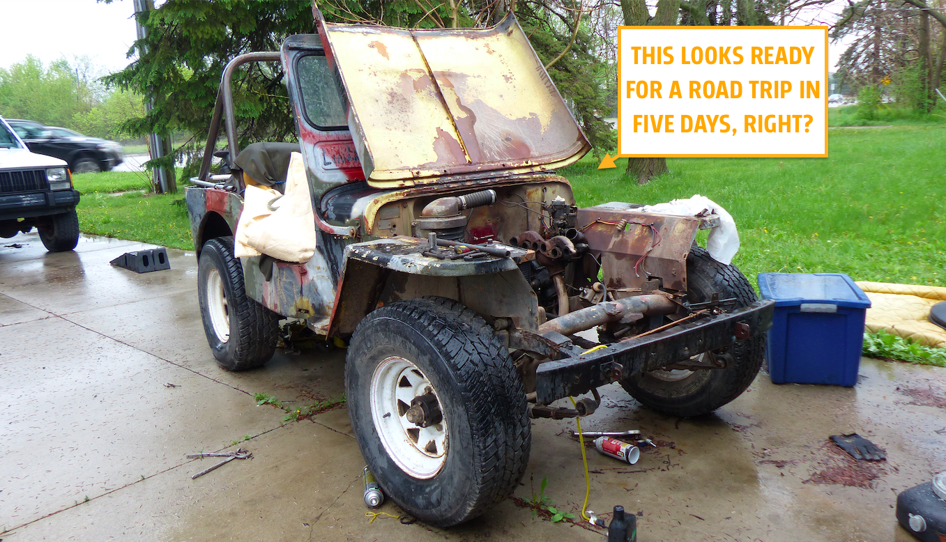 A Buyer Is Coming To Road-Trip My 1948 Jeep But The Engine Is In 1,000 Pieces